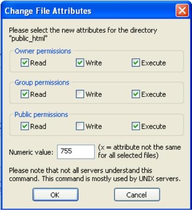 Cara Merubah File Permission CHMOD via filezilla-selamethariadi.com
