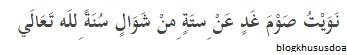Niat Puasa Sunnah di Bulan Syawal 6 Hari www.selamethariadi.com