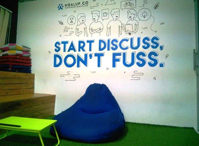 Start Discuss Dont Fuss ngalup coworking space Malang www.selamethariadi.com