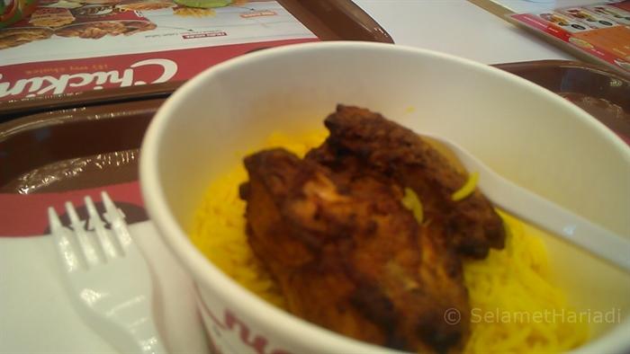 Nasi Briyani dan Grilled Chicken Chicking Indonesia (dok. pribadi)