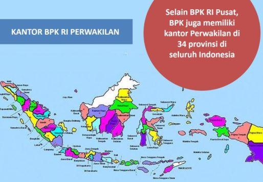 Sebaran Kantor Perwakilan BPK (dok.bpk)