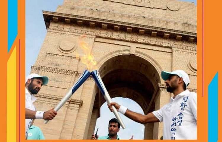 Api Asian Games 2018 Fire Torch Relay India Mrapen