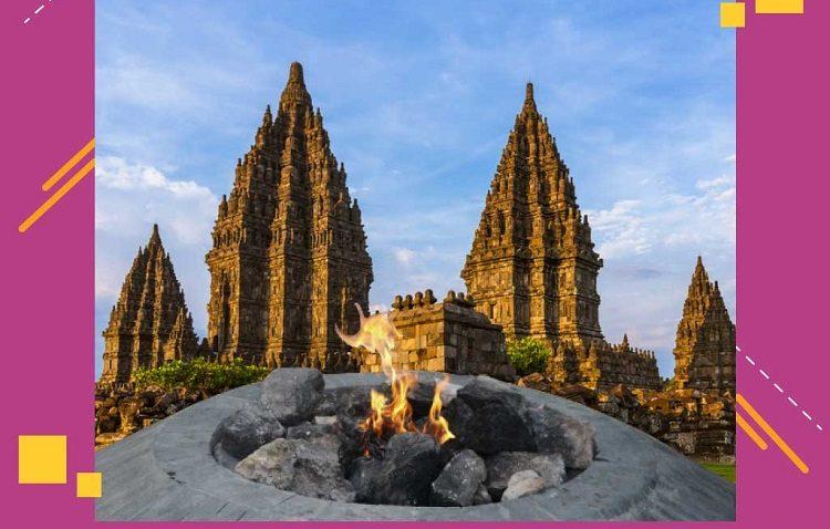 Api Asian games 2018 Fire Mrapen Prambanan Torch Relay