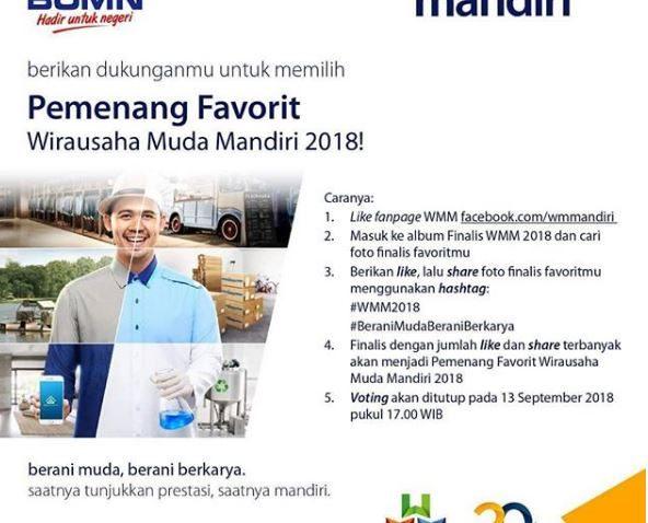 Cara Dukung Finalis Wirausaha Muda Mandiri selamethariadi.com